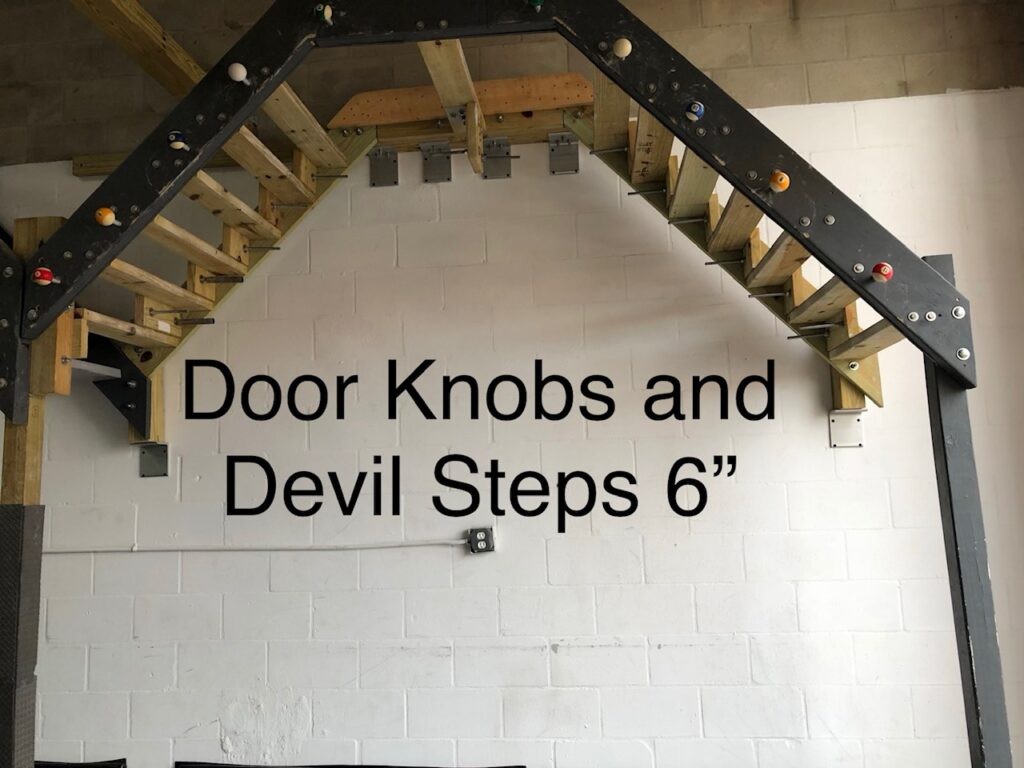door knobs and 6 inch devil steps